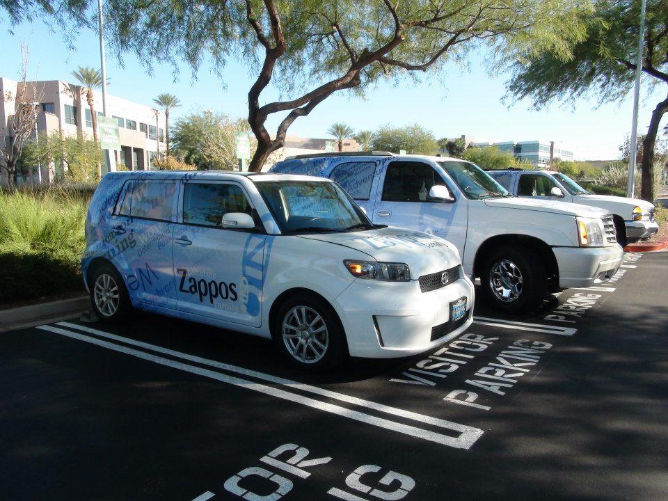Der Parkplatz von Zappos