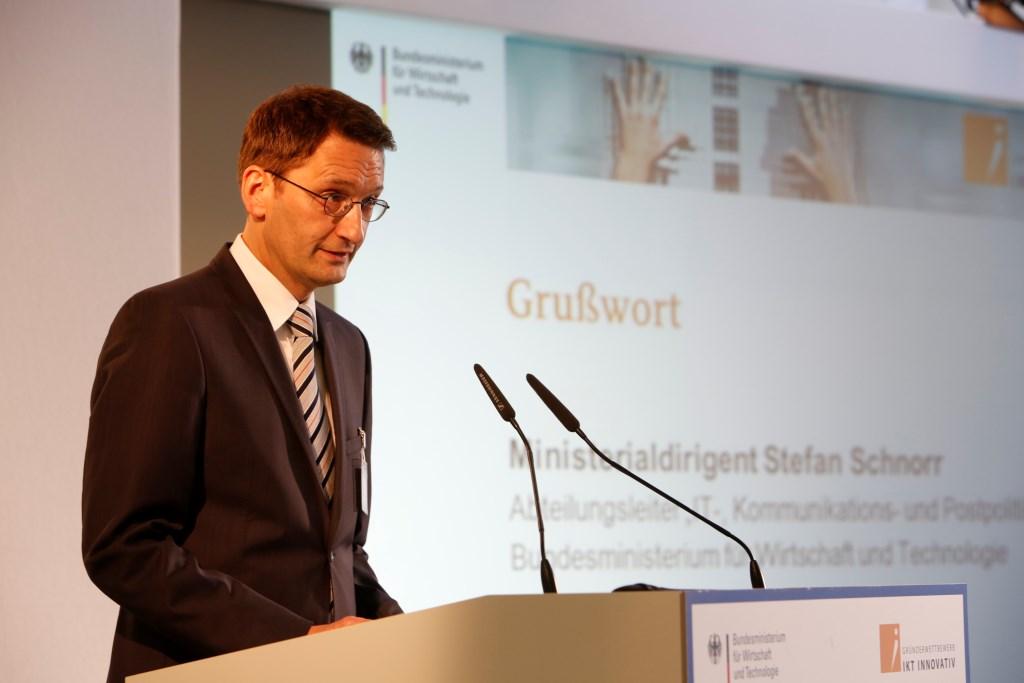 Grußwort von Stefan Schnorr Abteilungsleiter IT- Kommunikations- und Postpolitik BMWi