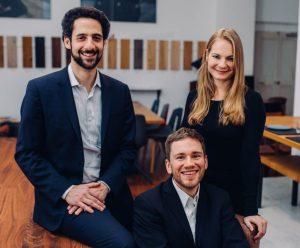 Das Gründerteam des Berliner Process Mining-Start-ups Lana Labs (v.l.n.r.): Dr. Rami-Habib Eid-Sabbagh, Dr. Thomas Baier und Karina Buschsieweke.