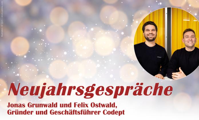 Neujahrsgespräch mit Jonas Grunwald und Felix Ostwald, Codept